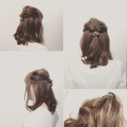 秋らしくヘアカラー